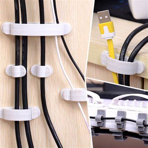 Cable Desk Holder by 10pcs White Cord Desk Tidy Line Wire Usb Charger