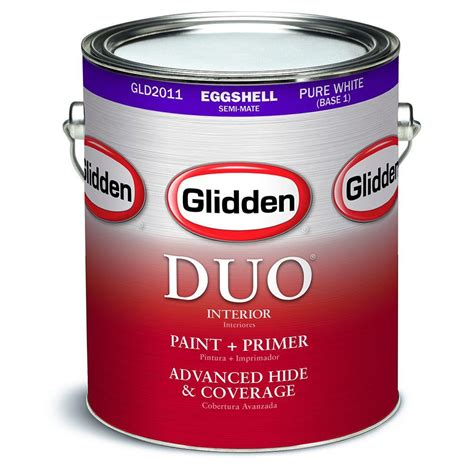 glidden duo 1 gal white semi gloss interior paint and primer gld3000 01 the home depot