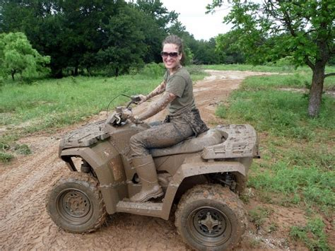 mudding four wheelers oh yes i want to look like this after a 4 wheeling