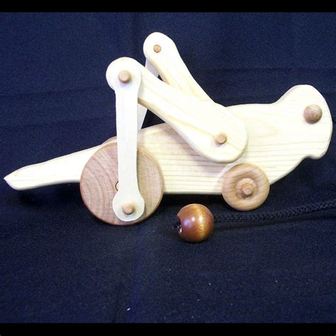 handmade wooden animated grasshopper pull ss woodcraft