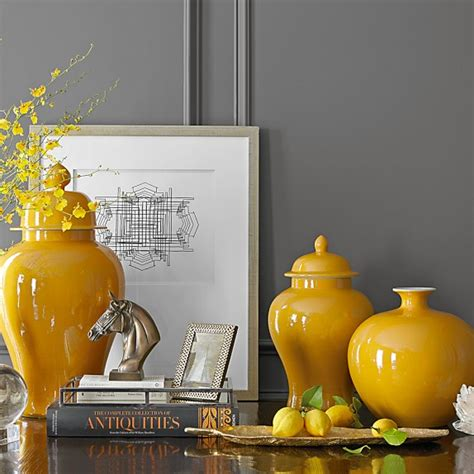 yellow home decor home decor vases stellar interior design
