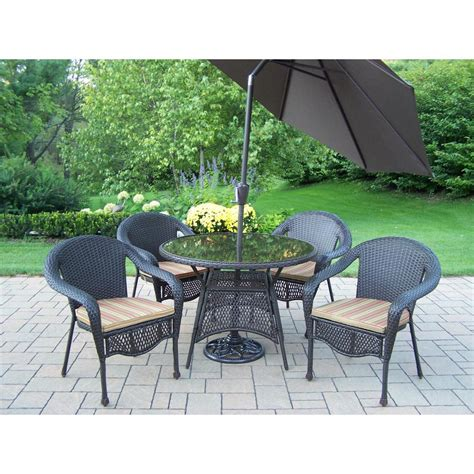 Patio Dining Sets - hton bay kapolei 7 wicker outdoor dining set with