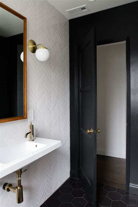 black painted bathroom badrumsinspiration mykindofhome