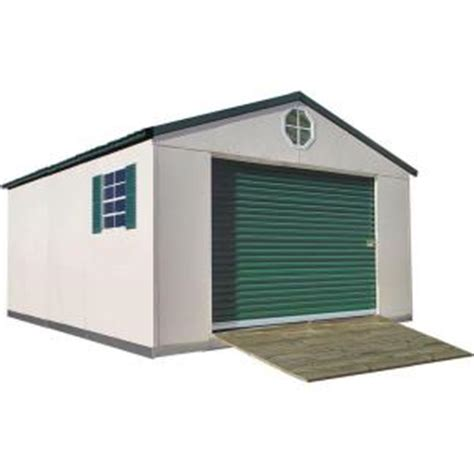 Home Depot Metal Shed by Temloc Steel Buildings Premium 12 Ft X 16 Ft Steel Building Shed Shd P 12 09 16 8 Pm The