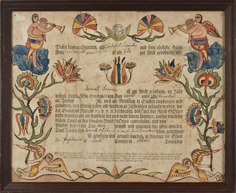 Berks County Birth Records 17 Best Images About Fraktur On Folk Auction And Births