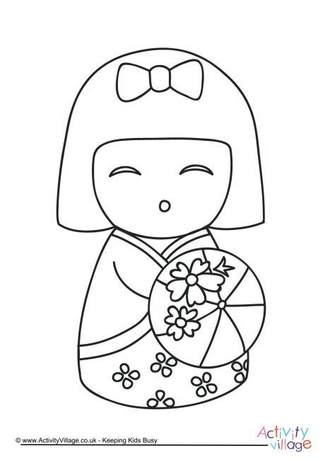 daruma doll coloring page doll coloring book alltoys for