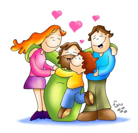 Imagenes Catolicas En Caricatura | fano una familia con jesus fano caricatura cristiana