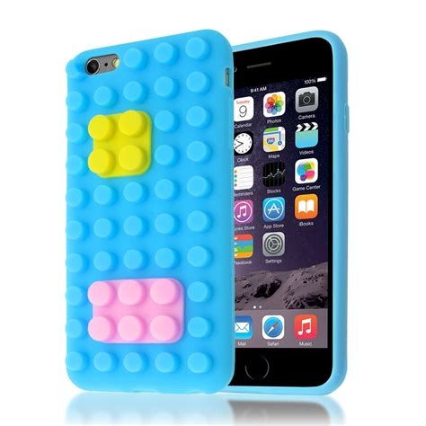 3d Building Blocks Brick Style Soft Silicone Iphone 6 Black 3d building lego brick blocks silicone stand cover for iphone 6 6s plus ebay
