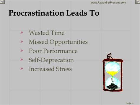 Persuasive Essay About Procrastination by Procrastination Powerpoint