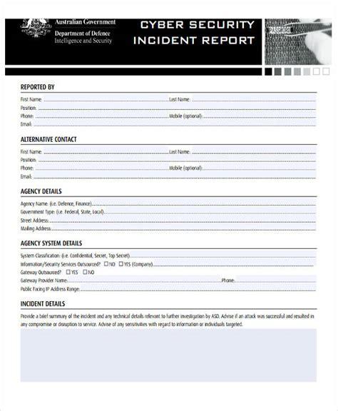 39 Free Incident Report Templates Free Premium Templates Cyber Security Incident Report Template
