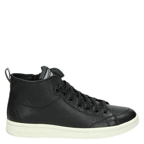skechers dames hoge sneakers zwart