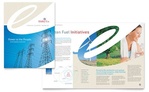 company brochures templates utility energy company brochure template design