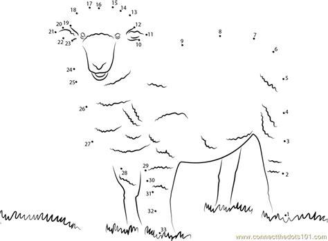 Printable Dot To Dot Sheep | corriedale sheep dot to dot printable worksheet connect