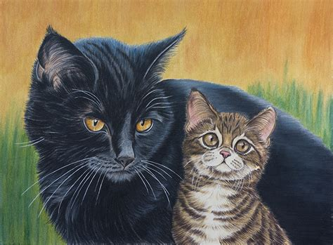 painting cat whiskers your photo kittens cats whiskers animals painting