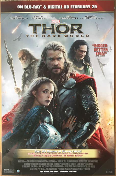film makinesi thor 2 thor 2 the dark world dvd movie poster 1 sided original