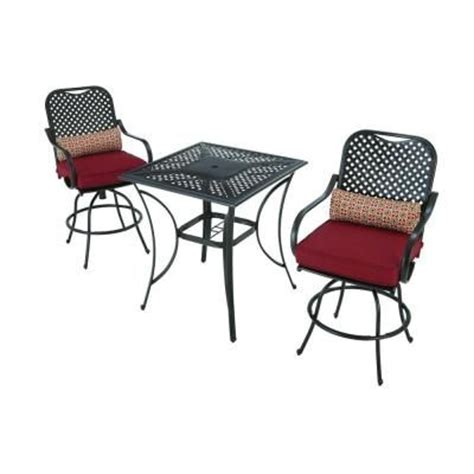 hton bay fall river 3 patio high dining set with