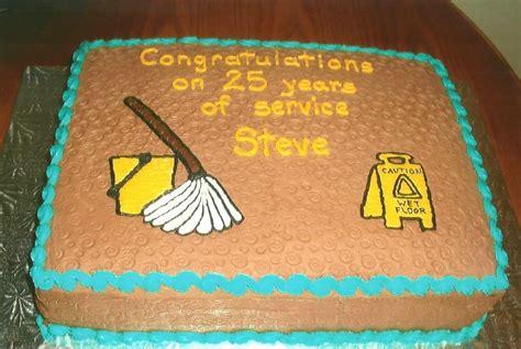 retirement cake  janitor cakecentralcom