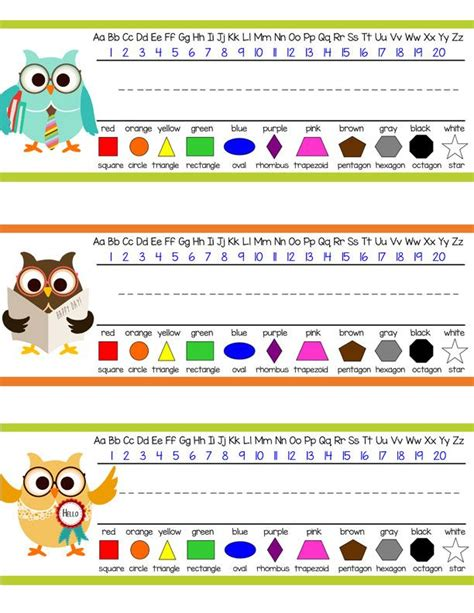 Owls Student Desk Nameplates You Personalize Owl Themed Desk Accessories