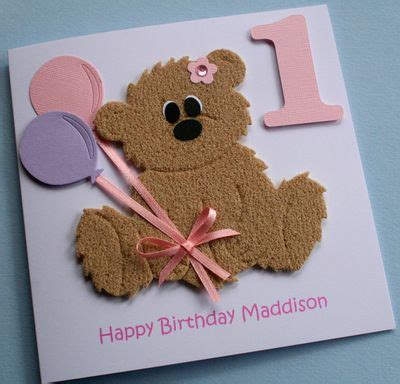 Handmade Teddy Cards - made birthday cards handmade personalised
