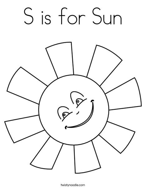 sun coloring page pdf s is for sun coloring page twisty noodle