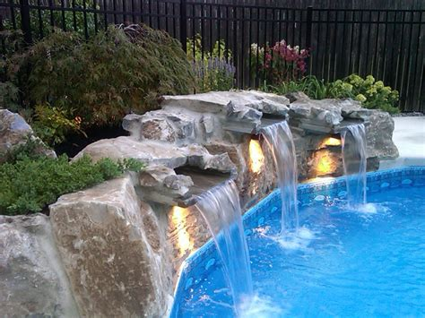 inground pool with waterfall luxury pool waterfalls pools for home
