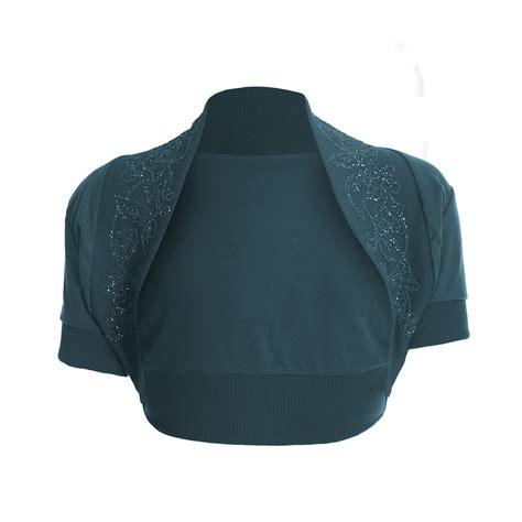 womens beaded tops womens cropped sleeve bolero open beaded