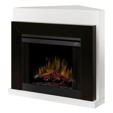 Electric Black Fireplace by Dimplex Covertable Corner Electric Fireplace Black
