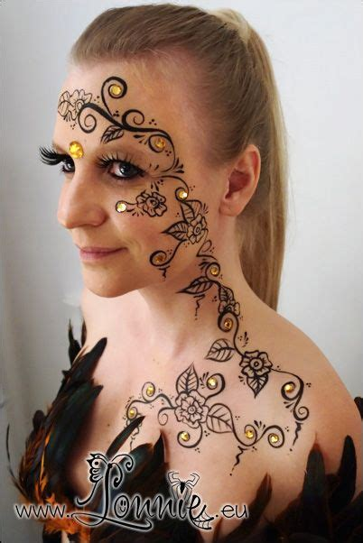 henna tattoo on face henna inspired face paint by ansigtsmaling d5x2wb5 jpg