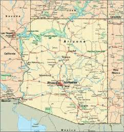 arizona on us map arizona map vacation idea