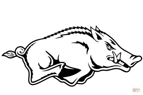 pin as razorbacks colouring pages on pinterest