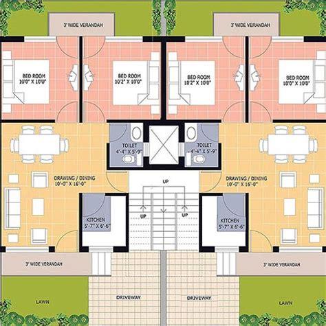 100 Sq Yards Duplex House Plans House Plans 100 Square Yards Duplex House Plans