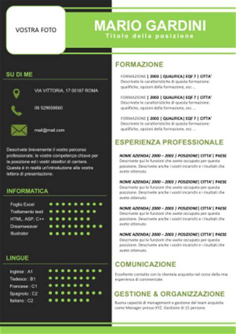 Modelo Curriculum Vitae Una Pagina Esempio Di Cv Su Una Pagina Cv Europeo