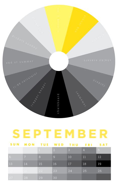 color for september the colors of september 2015 chromophilia color wheel