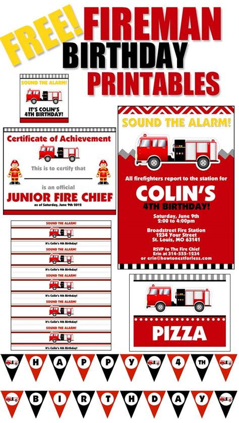 Home Made Baby Shower Decorations by Firetruck Themed Birthday Party With Free Printables How