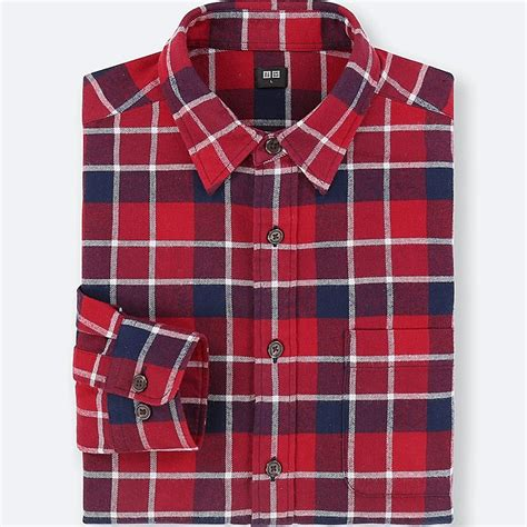 Original Flannel By Uniqlo 7 flannel checked sleeve shirt uniqlo uk