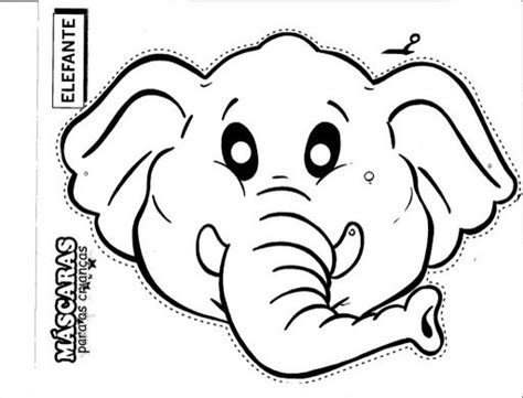 elephant mask coloring pages elephant animal masks coloring pages
