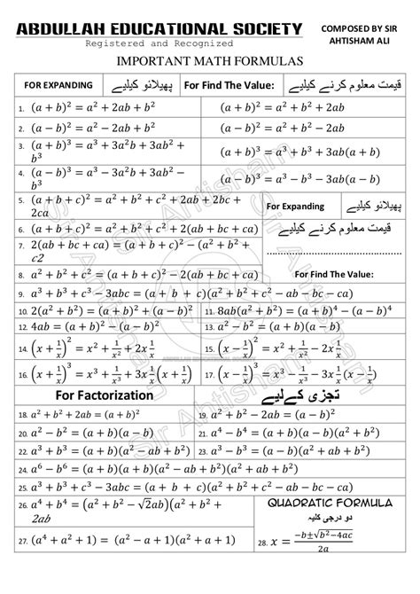 how to memorize formulas in mathematics book 2 trigonometry books important math formulas