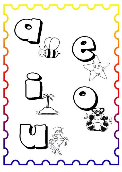 imagenes para colorear las vocales vocales animadas imagui