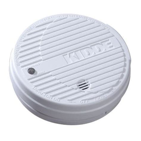 kidde battery operated ionization smoke alarm with test