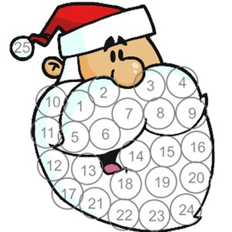 printable santa claus advent calendar printable santa advent calendar