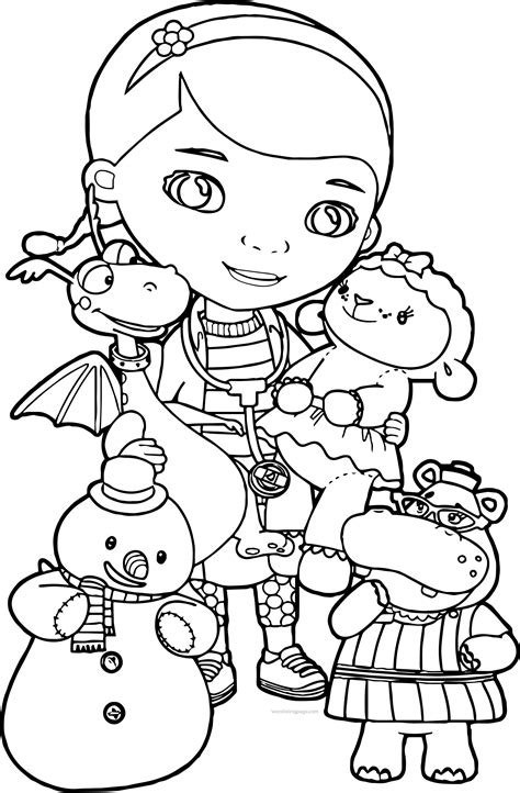 Doc Mcstuffins Coloring Pages Disney Junior by Doc Mcstuffins Coloring Pages Wecoloringpage