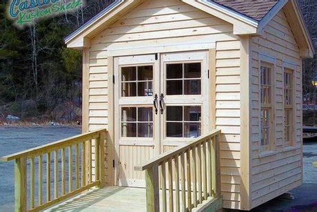 10 x 10 four peak garden shed from casco bay home