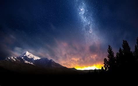 winter night sky wallpaper wallpapersafari
