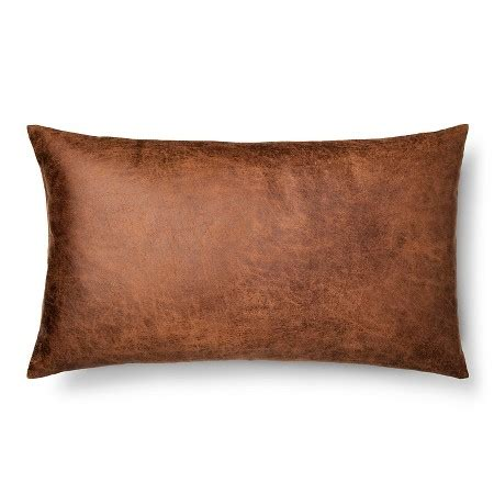 leather couch pillows brown throw pillow faux leather oversized oblong