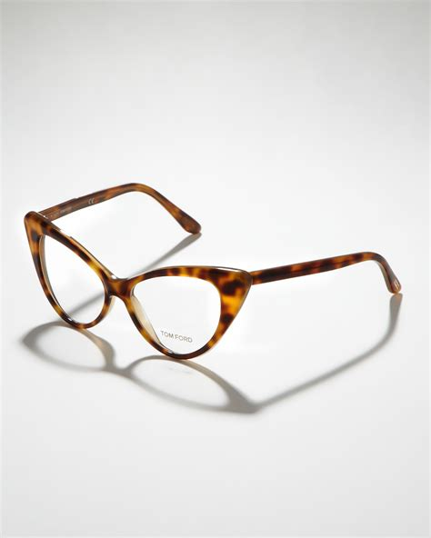 Frame Tomford 526 lyst tom ford cateye glasses in brown