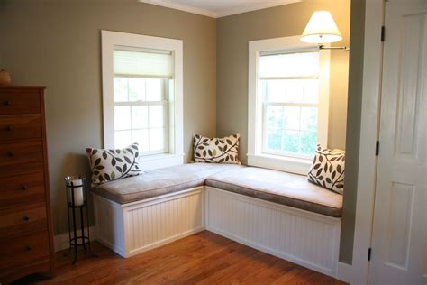 Hand Made Custom Window Seat And Upholstered Cushions For Bedroom Window Seat Designs