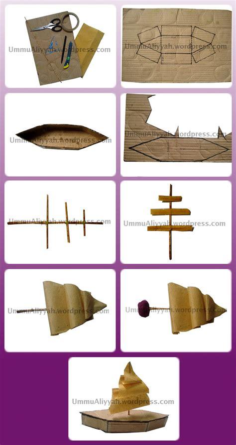 membuat mainan perahu dari kardus bekas tutorial membuat perahu layar sederhana dari kardus bekas