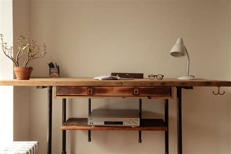 Reclaimed Wood Sit Stand Desk by Adjustable Stand Up Sit Desk Made Of By Coilanddrift