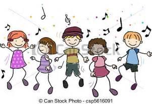 clipart of kids dancing illustration of kids dancing