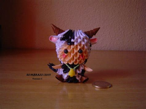 3d Origami Cow - child with cow suit by sombra33 on deviantart